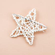 Load image into Gallery viewer, 10/15/20cm Rattan Star frame Artificial flowers Wreaths Christmas decoration For Home DIY Handmade Door Hanging wedding wall