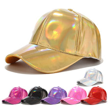 Load image into Gallery viewer, Doitbest laser PU Leather Baseball Cap for men women hip hop Spring snapback Caps suit for Teens Lovers Dance Party hat