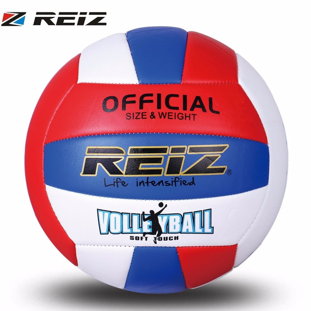 REIZ Professional Soft PU Volleyball Ball Competition Training Competition Ball International Standard Beach Handball Indoor