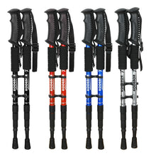 Load image into Gallery viewer, 2 Pcs/lot Telescopic Nordic Walking Poles Anti Shock Trekking Poles Adjustable Outdoor Climbing Hiking Walking Aluminum Sticks