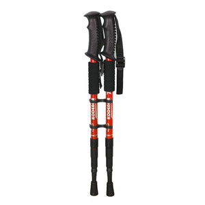 2 Pcs/lot Telescopic Nordic Walking Poles Anti Shock Trekking Poles Adjustable Outdoor Climbing Hiking Walking Aluminum Sticks