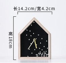 Load image into Gallery viewer, Nordic Style Kids Gift  House Shaped Wooden Table Clock Home Living Room Simple Wooden Desk Clock Office Decor Creative Clock