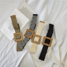 Load image into Gallery viewer, Fashionable Square Buckle Braided Belt Summer Dress Bohemian Belt Women