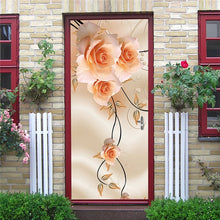 Load image into Gallery viewer, DIY 3D Decorative Wall Papers For The Door Stickers Waterproof Vinyl Design Self Stick View Door Posters
