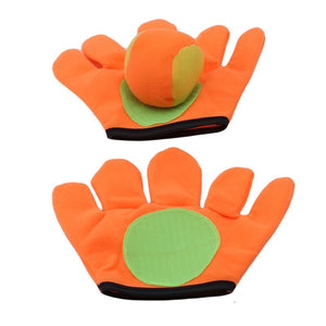 Useful Games Toys Small/large Gloves Sticky Ball Outdoor Sports Game Throw Catch Balls Toy Gloves Set Sticky Mitts Kids Playing