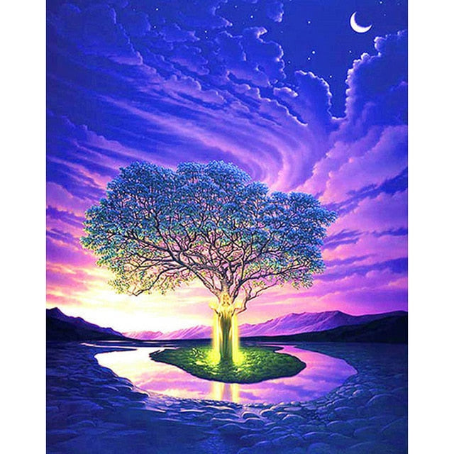 Low Cost 5D DIY Diamond Painting Kits Diamond Mosaic Embroidery Landscape Animals 3D Painting 20x30cm