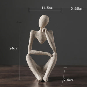 Abasract Resin Thinker Statue Figurine Office Home  Decoration Desktop Decor Handmade Crafts Sculpture Modern Art