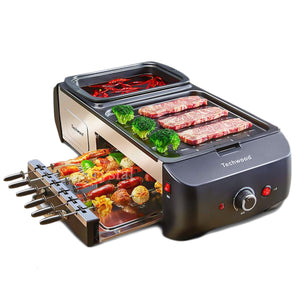 Multi-functional Electric Griddle Hot Pot & Barbecue Grill All in One Machine Household Electric BBQ