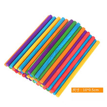 Load image into Gallery viewer, 50Pcs DIY Wooden Stick Popsicle Ice Cream Sticks Colorful Hand Crafts Art Creative Educational Toys For Children Kids Baby