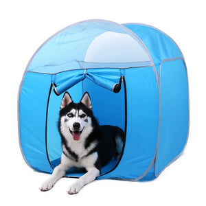 Pet Dog Cage Portable Outdoor/Indoor Kennel Fence Pet Tent House For Small Large Dogs Foldable Playpen Puppy Dog Crate Cats Home