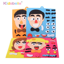 Load image into Gallery viewer, DIY Toys Emotion Change Puzzle Toys 30CM*30CM Creative Facial Expression Kids Educational Toys For Children Learning Funny Set