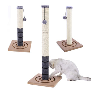 Dropshipping 82 CM Cats Ultimate Scratching Post 100% NATURAL durable sisal Cat Tree For Kittern Cat climbing frame Tower Condo