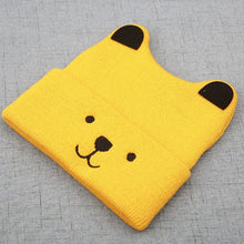 Load image into Gallery viewer, Cartoon Bear Hats For Kids Winter Baby Toddler Girl Boy Warm Cute Beanie Hat 3D Ears Cap Christmas Gift 4 Colors