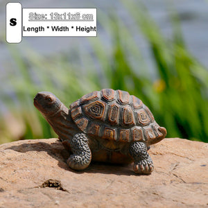 Cute Resin Tortoise Statue Outdoor Garden Pond Store Bonsai Decorative Animal Sculpture For Home Garden Decor Ornament