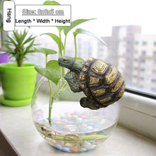 Load image into Gallery viewer, Cute Resin Tortoise Statue Outdoor Garden Pond Store Bonsai Decorative Animal Sculpture For Home Garden Decor Ornament