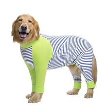 Load image into Gallery viewer, Striped Large dog clothes Cartoon Pajamas For gril boy Dogs Coat 4 Legs Dog Jumpsuit Sweatshirt Dog Clothing Pets Clothing