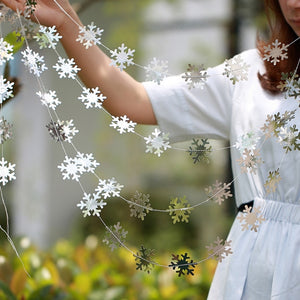 Christmas Decorations for Home Twinkle Star Snowflake Paper Garlands Pendant New Year