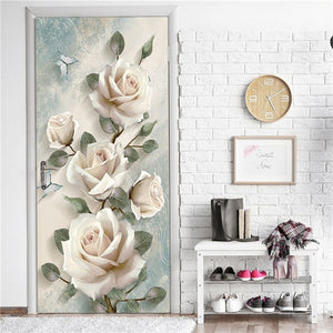 Creative 3D DIY Door Sticker 95x215cm/Custom Size Self Adhesive Wallpaper On the Doors DIY Renovation Waterproof Poster For Bedroom