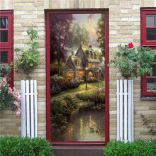 Load image into Gallery viewer, Creative 3D DIY Door Sticker 95x215cm/Custom Size Self Adhesive Wallpaper On the Doors DIY Renovation Waterproof Poster For Bedroom