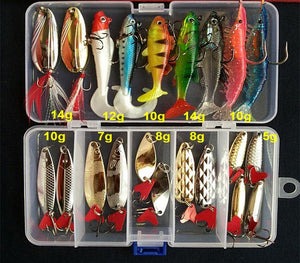 Hot Brilliant Metal Jig  Spoon Fishing Lure Set 10/20/25/35 PCS Sequin Kit Bait Fishing Tackle Wobblers Pesca Isca Artificial
