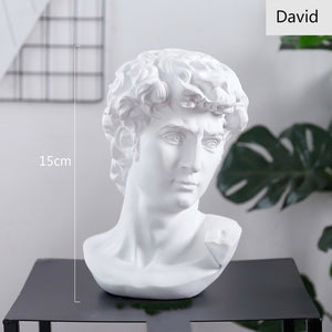 World Famous Statue Retro Art Resin Head Skull Sculpture Sketch Model David Moliere Home Decoration Accessories Modern Figurine