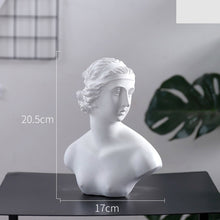 Load image into Gallery viewer, World Famous Statue Retro Art Resin Head Skull Sculpture Sketch Model David Moliere Home Decoration Accessories Modern Figurine
