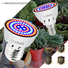 Load image into Gallery viewer, 220V LED Plant Light E14 Grow Bulb E27 Fitolampy MR16 Phyto Lamp Led 3W Full Spectrum Indoor Hydroponics Grow Tent