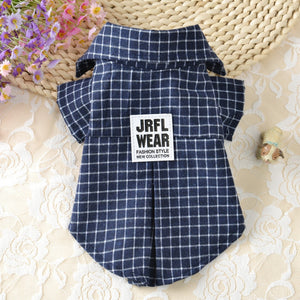 Classic Plaid Pet T-Shirt Summer Dog Shirt Vest Casual Dog Tops Puppy Outfits Yorkshire Dog Clothes Pet Clothing For Small Dogs