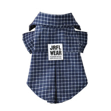Load image into Gallery viewer, Classic Plaid Pet T-Shirt Summer Dog Shirt Vest Casual Dog Tops Puppy Outfits Yorkshire Dog Clothes Pet Clothing For Small Dogs