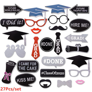 Graduation Decoration Favors Graduation Balloons Banner Photo Booth Props Cupcake Toppers Class Of 2020 Party Tableware Supplies 2021