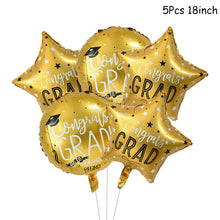 Load image into Gallery viewer, Graduation Decoration Favors Graduation Balloons Banner Photo Booth Props Cupcake Toppers Class Of 2020 Party Tableware Supplies 2021