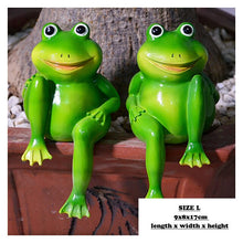 Load image into Gallery viewer, 2pcs/Set Cute Resin Sitting Frogs Statue Outdoor Garden Store Decorative Frog Sculpture For Home Desk Garden Decor Ornament