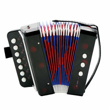 Load image into Gallery viewer, 7-Key 2 Bass Accordion Mini Small Accordion Educational Musical Instrument Rhythm Band Accordion for Kids Children Beginner
