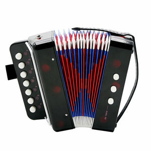 7-Key 2 Bass Accordion Mini Small Accordion Educational Musical Instrument Rhythm Band Accordion for Kids Children Beginner