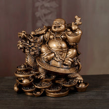 Load image into Gallery viewer, Laughing Buddha Statue Chinese Feng Shui Money Maitreya Buddha Sculpture Figurines Ornaments Gift For Home Decoration