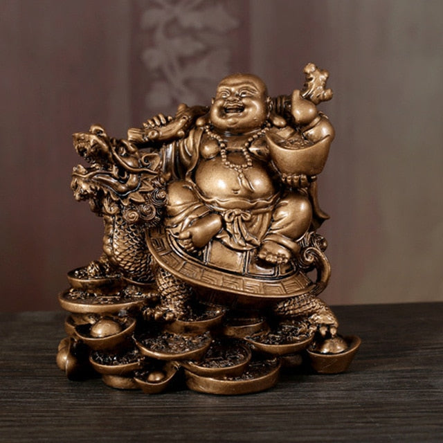 Laughing Buddha Statue Chinese Feng Shui Money Maitreya Buddha Sculpture Figurines Ornaments Gift For Home Decoration