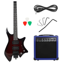 Load image into Gallery viewer, IRIN Headless Electric Guitar with Double-row Pickup Speaker Audio Cable Handle Wrench