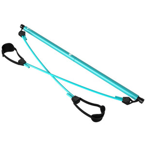 Portable Pilates Bar Kit With Resistance Band Adjustable Pilates Exercise Stick Toning Bar Fitness Home Yoga Gym Body Gear