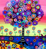 Abstract Tree Scene 5D Diamond Arts Painting DIY Full Drill Square Round Diamonds Craft Supplies Embroidery Rhinestone Painting Home Decoration