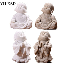 Load image into Gallery viewer, Cute Little Monk Statue 6cm 7cm Sandstone Adorable Thailand Buddha Statuettes Lovely Figurine Home Decor Creative Gift
