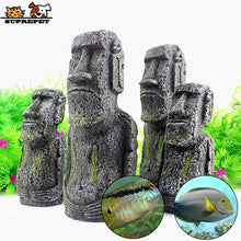 Load image into Gallery viewer, Ancient Moai Mystery Stone Landscape Aquarium Decoration Fish Tank Ornament Aquarium Accessories Fish Tank Accessories