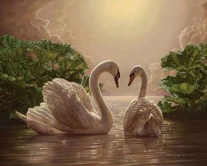 5D Diamond Embroidery Swan Pictures Of Rhinestones Diamonds Mosaic Animals Diamond Paintings Full Square Drill Wall Decor