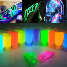 Load image into Gallery viewer, Fluorescent Glow in the Dark 10g/bottle 13-colorLuminous Acrylic pigment DIY sneaker canvas  leather bag paint color change