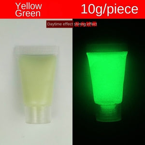 Fluorescent Glow in the Dark 10g/bottle 13-colorLuminous Acrylic pigment DIY sneaker canvas  leather bag paint color change