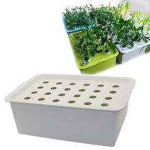 Load image into Gallery viewer, 24 Holes Plant Site Hydroponic Kit Garden Pots Planters Seedling Pots Indoor Cultivation Box Grow Kit Bubble Nursery Pots 1 Set