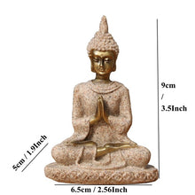 Load image into Gallery viewer, Buddha Statue Nature Sandstone Thailand Buddha Sculpture Hindu Fengshui Figurine Meditation Miniature Home Decor
