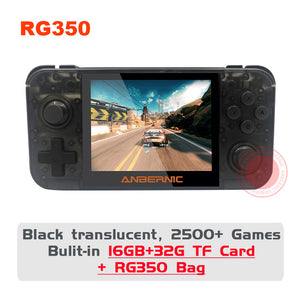 ANBERNIC New Retro Game RG350 Video Game Handheld game console MINI 64 Bit 3.5 inch IPS Screen 16G Game Player RG 350 PS1 RG350M