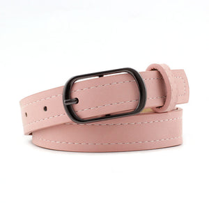 Hot Fashions Women PU Leather Designer Belt Metal Buckle Waistband Student Wild Jeans Dress Long Waist Strap