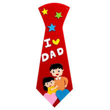 Load image into Gallery viewer, Kids DIY Ties Crafts Kindergarten Children Handmade Tie Educational Toys Fathers Day Gift child non woven clothing material set