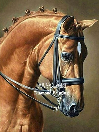 Horse Diamond Painting Full Square Diamond Embroidery Animal Picture 5D Diy Mosaic Rhinestone Home Decoration